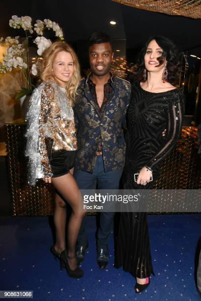 Julie Jardon Jean Barthelemy Bokassa and Sylvie Ortega Munos attend the Top Model Belgium Awards 2018 Ceremony at the Lido on January 21 2018 in...