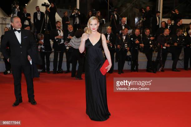 Julie Judd attends the screening of 'Dogman' during the 71st annual Cannes Film Festival at Palais des Festivals on May 16 2018 in Cannes France