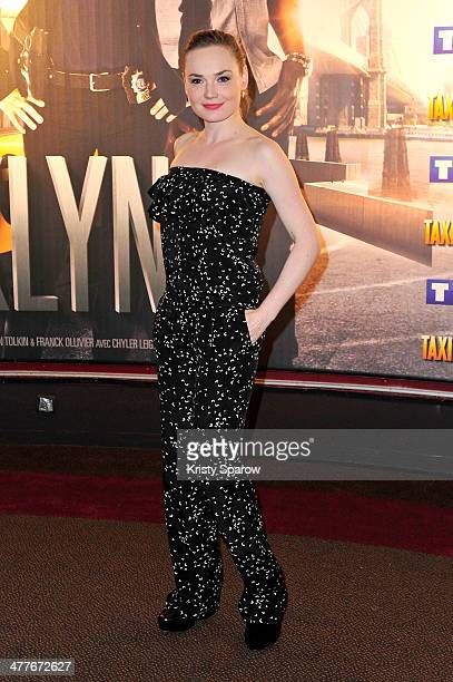Julie Judd attends the 'Taxi Brooklyn' Paris premiere at Cinema Gaumont Marignan on March 10 2014 in Paris France