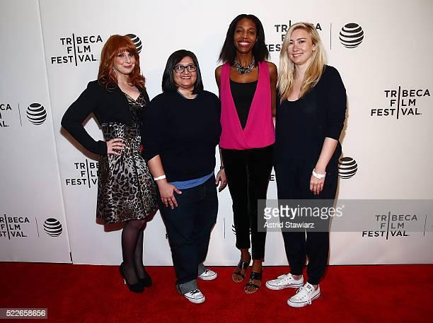 Julie Klausner Nahnatchka Khan Keli Goff and Liz Meriwether attends the Tribeca Daring Women Summit during the 2016 Tribeca Film Festival at Spring...