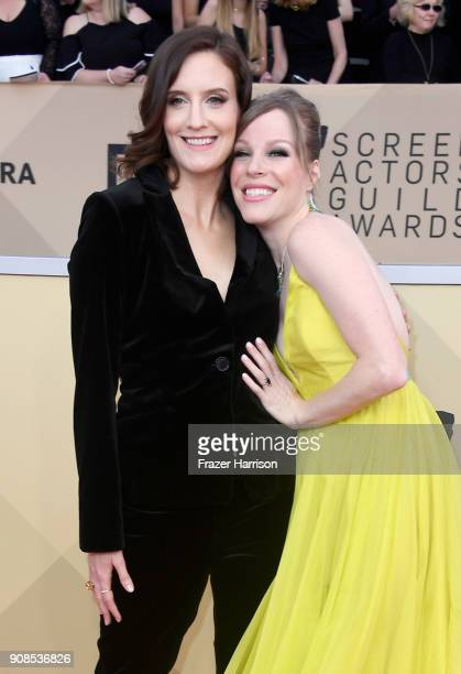 Julie Lake and Emma Myles attends the 24th Annual Screen Actors Guild Awards at The Shrine Auditorium on January 21 2018 in Los Angeles California