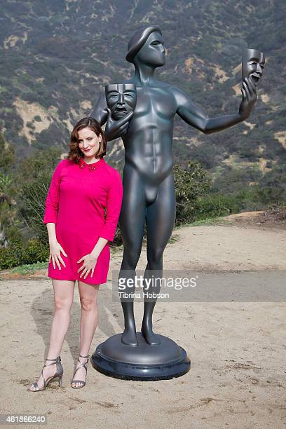 Julie Lake attends the 21st annual SAG Awards 'Actor' visits the Hollywood Sign event on January 20 2015 in Hollywood California