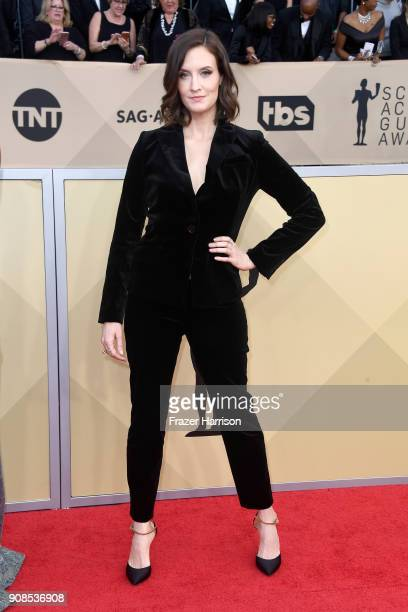 Julie Lake attends the 24th Annual Screen Actors Guild Awards at The Shrine Auditorium on January 21 2018 in Los Angeles California