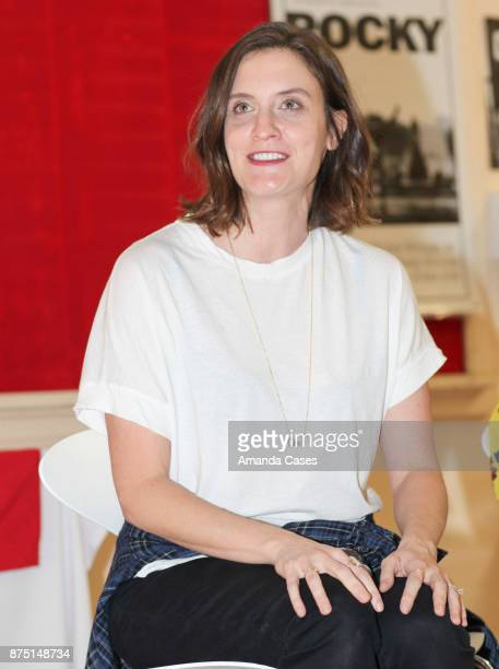 Julie Lake speaks at The Artists Project Visits Performing Arts Students At Hollywood High School on November 16 2017 in Hollywood California