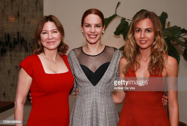 Julie Larson-Green, Eglantina Zingg and Laura Santos attend GOLEADORAS Celebrates United Nations Global Goals World Cup Winners at Private Residence...