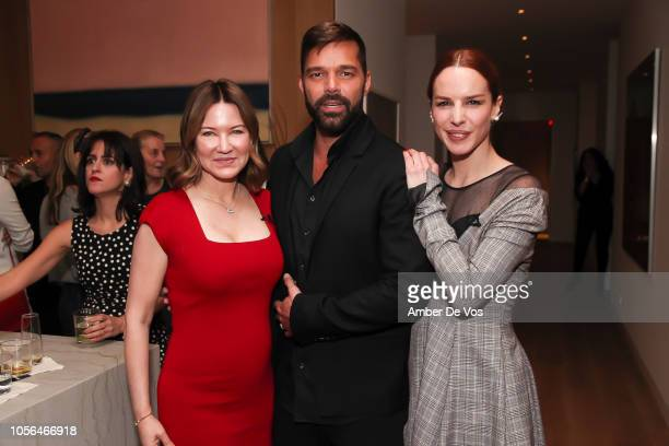 Julie Larson-Green, Ricky Martin and Eglantina Zingg attend GOLEADORAS Celebrates United Nations Global Goals World Cup Winners at Private Residence...
