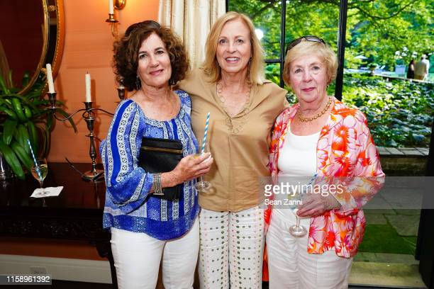 Julie Latzer Cathy Adelhardt and Barbara Adelhardt attend A Country House Gathering To Benefit Preservation Long Island on June 28 2019 in Locust...
