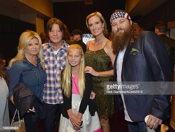 Julie Lebiedzinski musician John Fogerty Kelsey Fogerty and tv personalities Korie Robertson and Willie Robertson attend Tim McGraw's Superstar...
