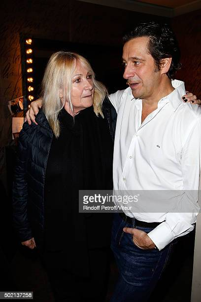 Julie Leclerc and Laurent Gerra and his wife attend the Laurent Gerra One Man Show at L'Olympia on December 19 2015 in Paris France