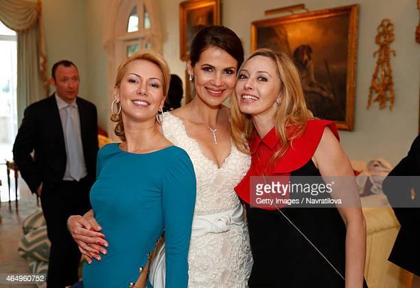 Julie Lemigova and guests attend the Martina Navratilova and Julie Lemigova wedding reception on February 14 2015 in Palm Beach