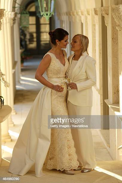 Martina Navratilova and Julie Lemigova Wedding Reception