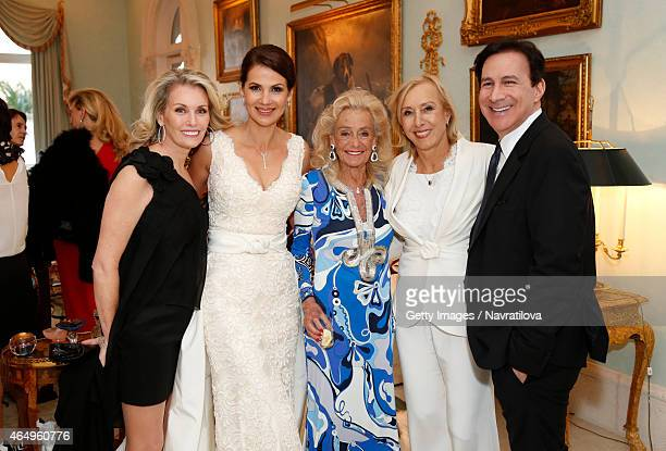 Julie Lemigova Terry Allen Kramer Martina Navratilova and guests attend the Martina Navratilova and Julie Lemigova wedding reception on February 14...