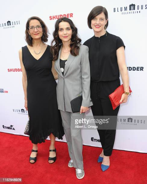 Julie M Anderson Maya Kazan and Elaine Mongeon attend the 6th Annual Etheria Film Showcase held at American Cinematheque's Egyptian Theatre on June...