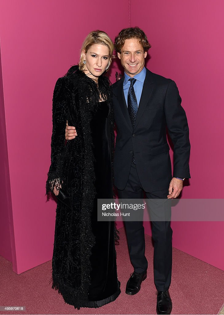 Julie Macklowe and Billy Macklowe attend the 2015 Guggenheim International Gala Dinner made possible by Dior at Solomon R. Guggenheim Museum on November 5, 2015 in New York City.