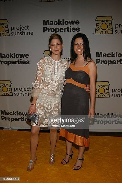 Julie Macklowe and Dahlia Loeb attend PROJECT SUNSHINE Spring Gala Dinner honoring Billy Macklowe at Waldorf Astoria on May 15 2006 in New York City