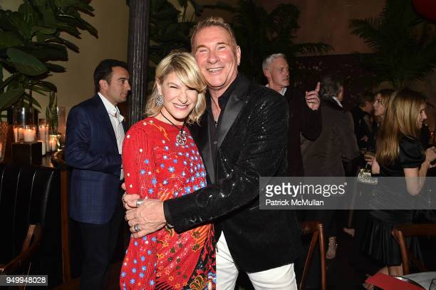 Julie Macklowe and Hal Rubenstein attend Billy Macklowe's 50th Birthday Spectacular at Chinese Tuxedo on April 21 2018 in New York City