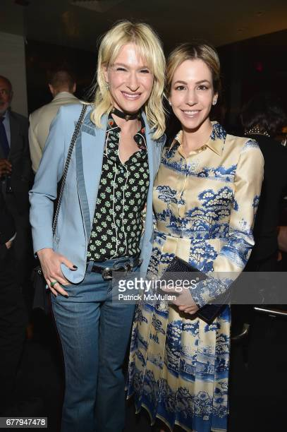 Julie Macklowe and Jill Bikoff attend Galerie Gmurzynska TEFAF NY dinner in honor of Christo honoring Alexandre de Betak on May 2 2017 in New York...