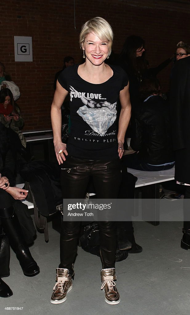 Julie Macklowe attends the Wes Gordon fashion show during Mercedes-Benz Fashion Week Fall 2014 on February 11, 2014 in New York City.