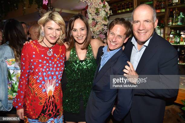 Julie Macklowe Lisa Lewis Billy Macklowe and Jeff Lewis attend Billy Macklowe's 50th Birthday Spectacular at Chinese Tuxedo on April 21 2018 in New...