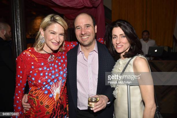 Julie Macklowe Robert Vogliano and Jennifer Vogliano attend Billy Macklowe's 50th Birthday Spectacular at Chinese Tuxedo on April 21 2018 in New York...