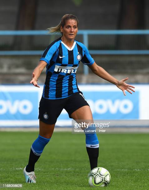 Julie Martine Debever of FC Internazionale in action during the Women Serie A match between FC Internazionale v Hellas Verona on September 14 2019 in...