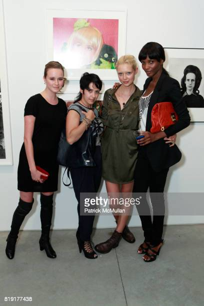 Julie Maximova Alexandra Mesterchna Kaja Sokola and Agbani Darego attend INSPIRED Exhibition Curated By Beth Rudin DeWoody at Steven Kasher Gallery...