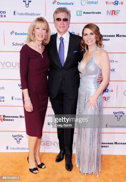 Julie McDermott CEO of SAP Bill McDermott and CEO of GENYOUth Alexis Glick attend the Second Annual GENYOUth Gala at Intrepid SeaAirSpace Museum on...