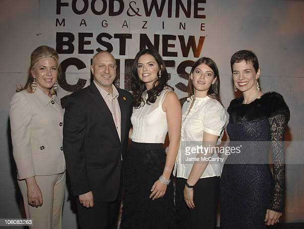 Julie McGowan Senior Vice President and Publisher of Food Wine Magazine Tom Colicchio Katie Lee Joel Gail Simmons and Dana Cowin Editor in Chief of...