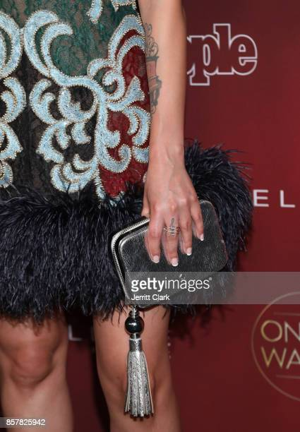 Julie Michaels accessory and tattoo detail during People's Ones To Watch at NeueHouse Hollywood on October 4 2017 in Los Angeles California