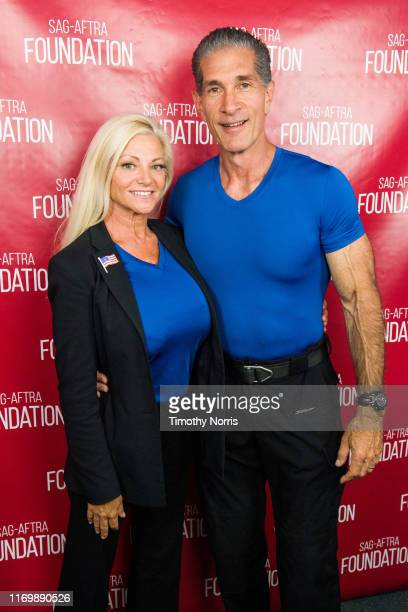 Julie Michaels and Peewee Piemonte attend SAGAFTRA Foundation Conversations Emmy Nominated Stunt Performers at SAGAFTRA Foundation Screening Room on...