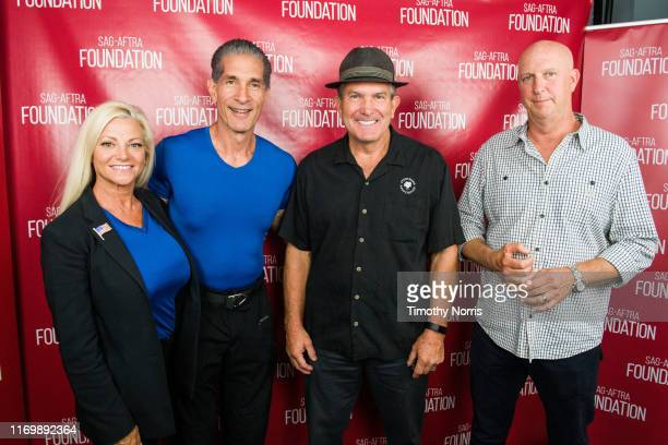 Julie Michaels Peewee Piemonte Alex Daniels and Charlie Brewer attend SAGAFTRA Foundation Conversations Emmy Nominated Stunt Performers at SAGAFTRA...