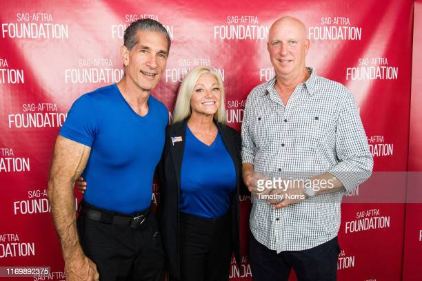Julie Michaels Peewee Piemonte and Charlie Brewer attend SAGAFTRA Foundation Conversations Emmy Nominated Stunt Performers at SAGAFTRA Foundation...