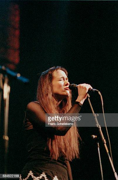 Julie Miller, vocal, performs at the Paradiso on November 14th 1997 in Amsterdam, Netherlands.
