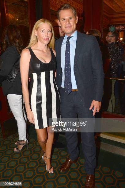 Julie Mintz and Alex Marquardt attend the 'Head Over Heels' Broadway Opening Night Party at Guastavino's on July 26 2018 in New York City