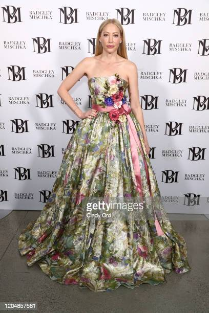 Julie Mintz poses backstage at the Badgley Mischka show during New York Fashion Week: The Shows at Gallery I at Spring Studios on February 08, 2020...