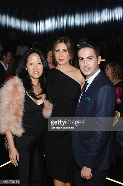 Julie Miyoshi Nathalie Marciano and Micah Schifman attend Museo Jumex Opening After Party on November 16 2013 in Mexico City Mexico