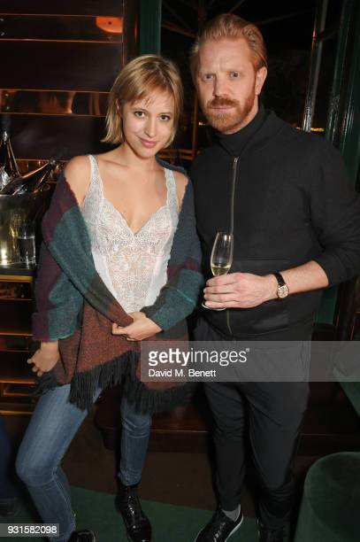 Julie Moffatt and Alistair Guy attend the launch of Champagne Armand de Brignac Blanc de Blancs en Magnum at Casa Cruz on March 13 2018 in London...