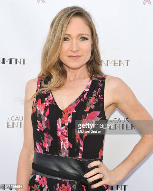 Julie Nathanson arrives at The 4th Annual A Cause For Entertainment Benefit on October 7 2018 in Los Angeles California