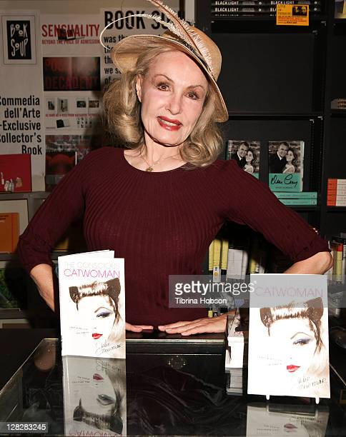 Julie Newmar attends her book signing for The Conscious Catwoman Explains Life On Earth at Book Soup on October 5 2011 in West Hollywood California