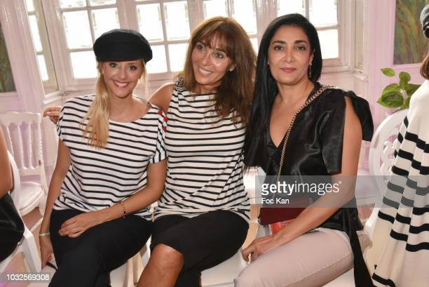 Julie Nicolet Anna Veronique El Baze and Fatima Adoum attend the EFashion Awards at Salon des Miroirs on September 12 2018 in Paris France