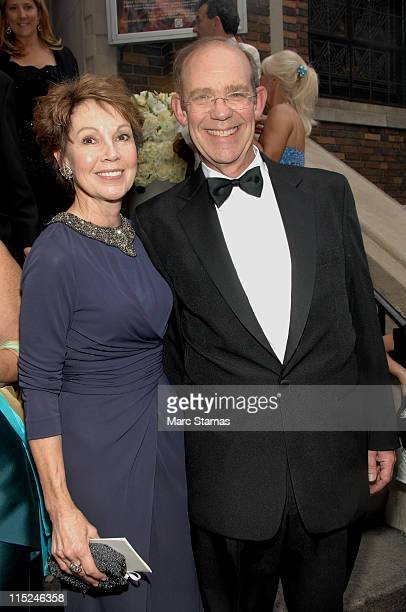 Julie Nixon and David Nixon attend the wedding of Andrea Catsimatidis and Christopher Nixon Cox at the Greek Orthodox Cathedral Of The Holy Trinity...