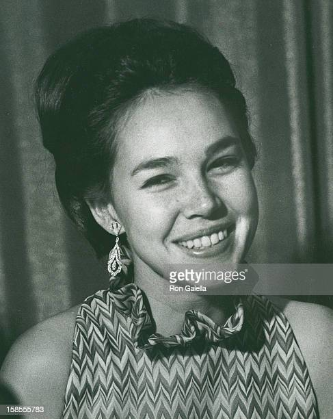 Julie Nixon attends 50th Anniversary of the Women's National Press Club Dinner on July 8 1970 at the Shoreham Hotel in Washington DC