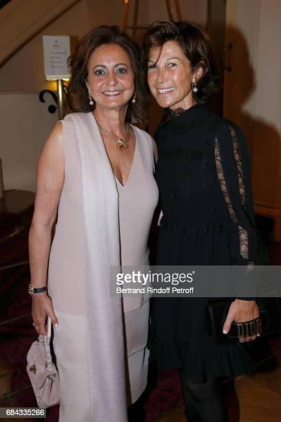 Julie Oks and Sylvie Rousseau attend the 'Vaincre Le Cancer' Gala 30th Anniverary at Cercle de l'Union Interalliee on May 17 2017 in Paris France