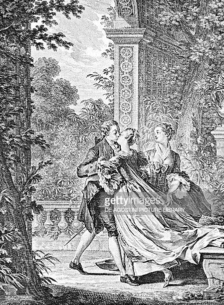 Julie or the New Heloise by JeanJacques Rousseau 1761 Engraving by Jean Michel Moreau