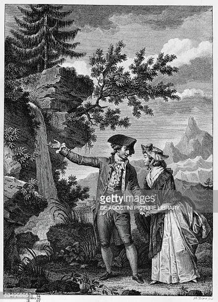 Julie or the New Heloise engraving for the 1793 edition of the novel by JeanJacques Rousseau France 18th century Paris Bibliothèque Nationale De...