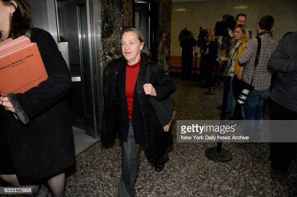 Julie Patz the mother of Etan Patz arrives in Manhattan Supreme Court on Monday Ferbruary 2 2015 She was testifying in the trial of Pedro Hernandez...