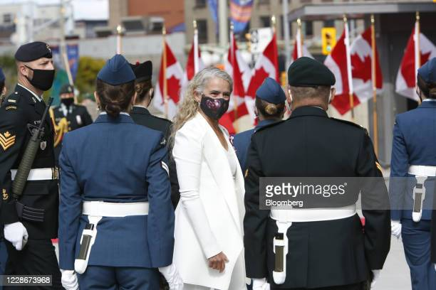 Julie Payette, Canada's governor general, arrives at the Senate of Canada on Parliament Hill in Ottawa, Ontario, Canada, on Wednesday, Sept. 23,...