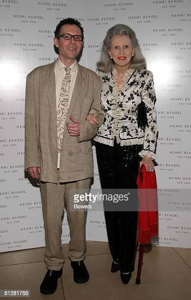 Julie Peabody and guest attend the Pollini launch Party at Henri Bendell during Olympus Fashion Week Spring 2005 September 9 2004 in New York City