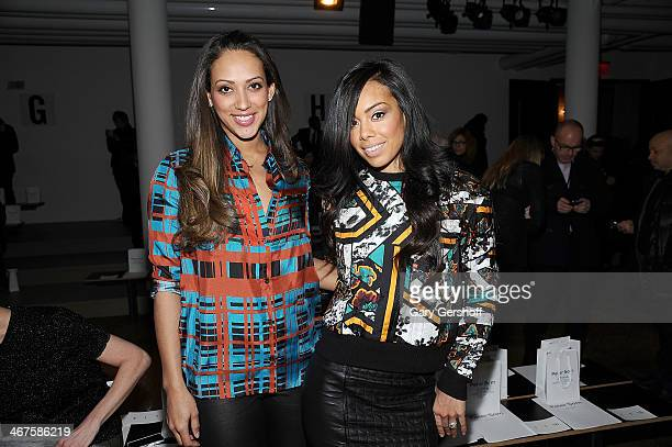 Julie Pierce and Brandi Garnett attend the Peter Som show during MADE Fashion Week Fall 2014 at Milk Studios on February 7 2014 in New York City