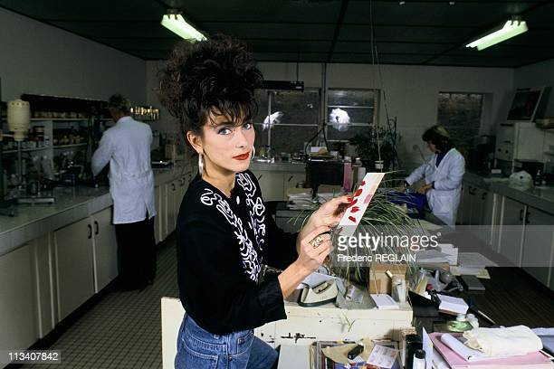 Julie Pietri And Cosmetics On January 12th, 1987 In France